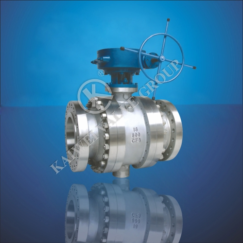 GB Cast Steel Trunnion Ball Valve